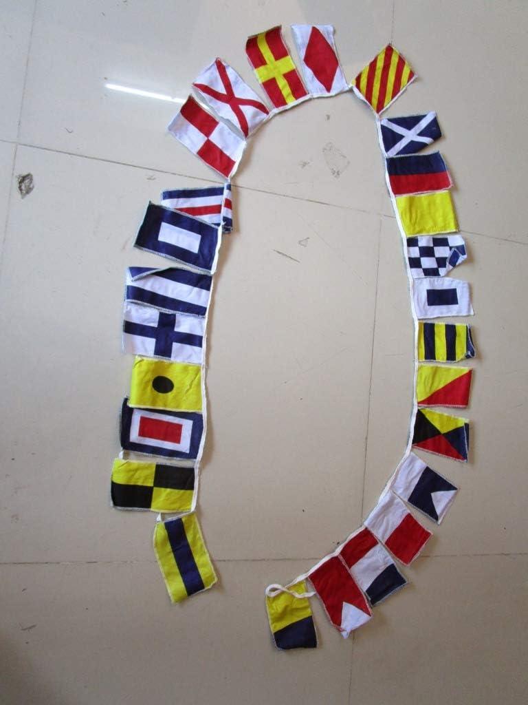 Maritime//Marine//Boot//Yacht//nautische Dekor: Brass Blessing Wimpelkette f/ür Strandpartys 14 gro/ße Polyester-Flaggen