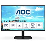 AOC 27B2H- Monitor de 27'Full HD (1920x1080, 75 Hz, IPS, FlickerFree, 250 cd/m, D-SUB, HDMI, VGA, Low Blue Light) Negro