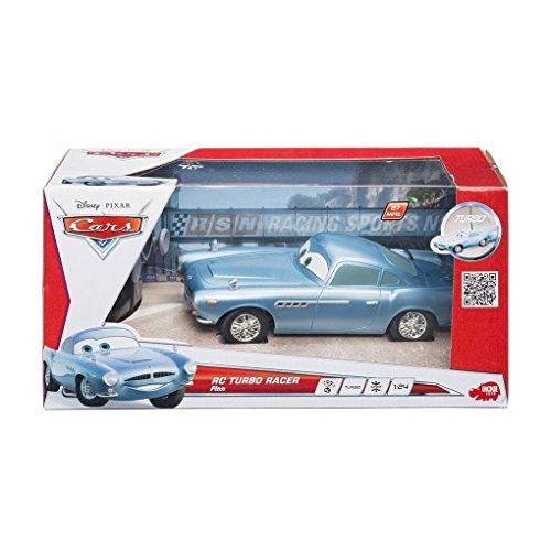 Dickie-Spielzeug 203089503 - Disney Cars 2 - RC Finn McMissile, 2-Kanal Funkfernsteuerung, 27 oder 40 MHz (sortiert), Maßstab 1:24, 18 cm, blau