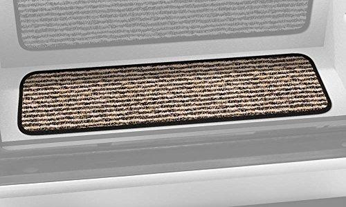 Prest-O-Fit 5-1093 Decorian Step Huggers For RV Landings Peppercorn Black 8 In. x 23.5 In.