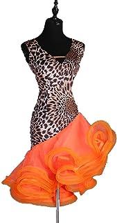 861c2934e5bec RobesRobe de Danse Latine Professionnelle sans Manches pour Adulte Femme  Performance Compétition Costume de