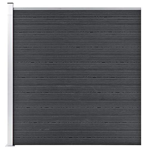 *vidaXL Gartenzaun Sichtschutzzaun Windschutzzaun Lamellenzaun Windschutz Sichtschutz Zaun Element Garten Terrasse WPC 180x186cm Grau*
