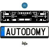 Autodomy Soporte Portamatrícula Coche Universal + Tornillos Pack 2 Unidades - Made in EU