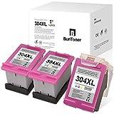 3 Colores BunToner HP 304XL Recyceln Cartuchos de tinta para HP 304 XL para HP DeskJet 3700 3720 3730 3732 3733 3735 3750 3760 3762 3764 2600 2620 26222 2630 632 2 633 2634 Envy 5010 5020 5030 5032