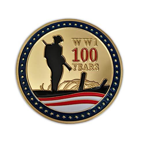 Eillwin 100 años Aniversario Primera Guerra Mundial Coleccionable y Conmemorativa Moneda Agradable