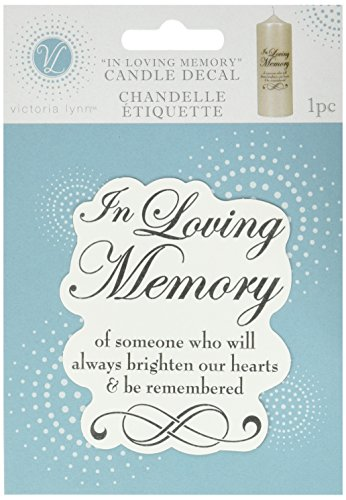 Darice VL5880, In Loving Memory Candle Decal 3-Inch-by-3-1/2-Inch