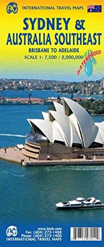 Stadtplan Sidney /Australia Southeast 1:7.500 / 2.000.000: doppelseitig, wasserfest Stpl.Sydney, Sydney Ferry Map Australia East