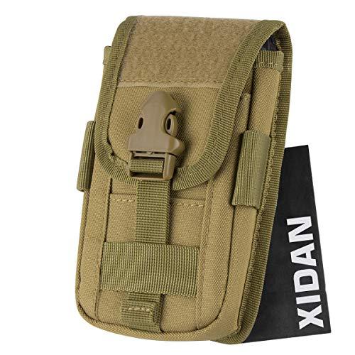 Xidan Nylon Universel Molle Tactique Pochette, EDC Utilitaire Sac de Ceinture pour Téléphone Portable