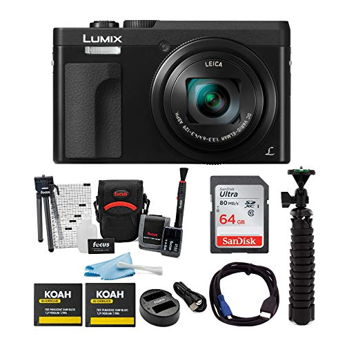 Panasonic LUMIX DC-ZS70K 20.3MP 4K Digital Camera (Black) with 64GB SD Card and Accessory Bundle Arkansas