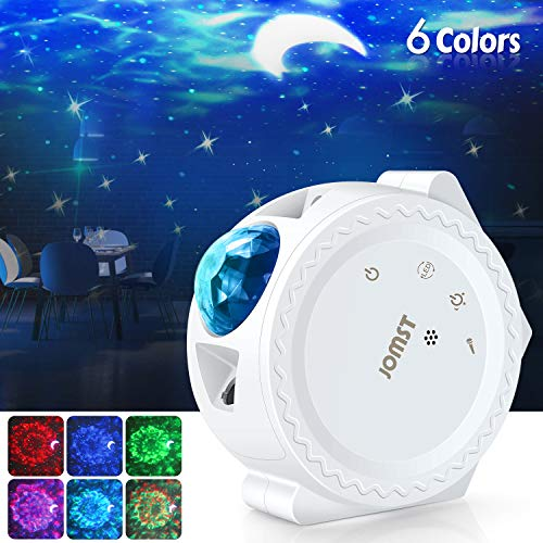 Jomst Star Projector,3 in 1 LED Moon and Star Lights,with Voice Control, 6 Lighting...