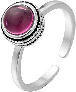 Lozse Anelli regolabili S925 argento intarsiato regalo di festa di apertura dell'anello gioiello regolabile allergia Invia...