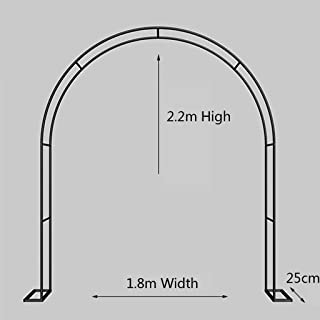 LXYLY Garden Arch with Disassemble Base, Metal Steel Frame Stand Trellis Climbing Plants, for Garden Wedding Party Decoration - Black/White