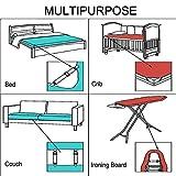 WADEO Bettlakenspanner Mit Metallclips Verstellbar Betttuchspanner Elastische Spannbettlakenhalter Für Bettlaken Matratze 8 Stück - 3