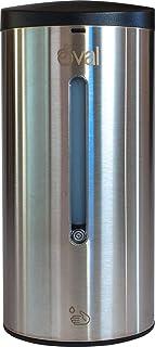 OVAL | Dispensador Automático de Jabón Líquido y Gel Sanitizante | Jabonera Automática y Rellenable de Acero Inoxidable Pr...