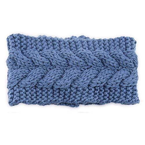 Woolen Woolen Braidy Cable Diadema de Punto con protección contra el oído Botones Color Sólido Crochet Twist Jeatwrap Winter Stretch Turban Ear Warmer, Regalos de joyería TINGG (Color : M)