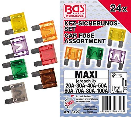 BGS 8127 | Kfz-Sicherungs-Sortiment | Maxi | 24-tlg