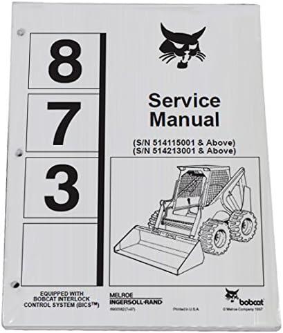 Bobcat Skid Steer 873 Workshop Repair Manu Service - Beauty products Max 87% OFF Book Manual