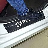 SENYAZON F-150 Decals Carbon Fibre Vinyl Reflective Car Door Sill Decoration Scuff Plate for 2009-2014 F-150 Crew Cab Car Accessories (White)