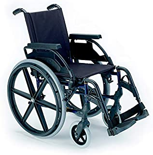 "Silla de ruedas plegable Breezy Premium con ruedas de 24"" - 37, GRIS SELENIO, NEUMATICAS"
