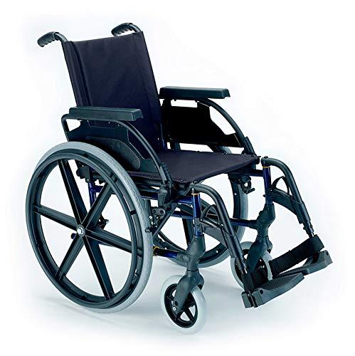 Breezy Premium - Sedia a rotelle pieghevole con ruote da 24' - 37, colore grigio seleno, pneumatici