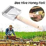 Skymore - Forchetta per api in acciaio INOX, accessori per apicoltura, utensile per apicoltura, raschietto per miele, pala per apicoltori