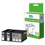 InkJello Compatibile inchiostro Cartuccia Sostituzione Per Canon Maxify MB2000 MB2050 MB2100 MB2150 MB2155 MB2300 MB2350 MB2700 MB2750 MB2755 PGI-1500XL (Nero,Ciano,Magenta,Giallo)