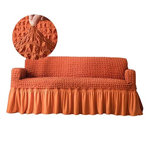 Almabner Funda elástica para sofá, cobertura completa, elástica, con volantes, protector de muebles, suave a prueba de polvo, funda de sofá para decoración del hogar
