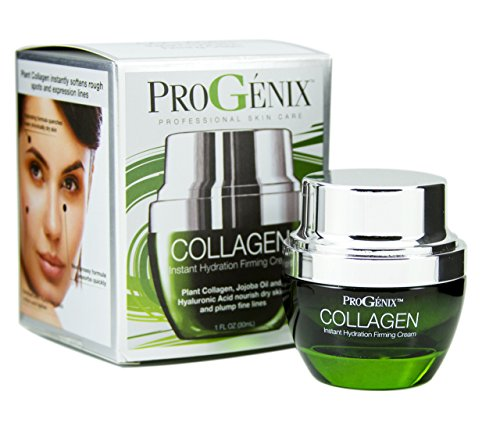 Progenix Collagen Instant Hydration Firming and Plumping Face Cream with Hyaluronic Acid and Jojoba Oil. 1oz