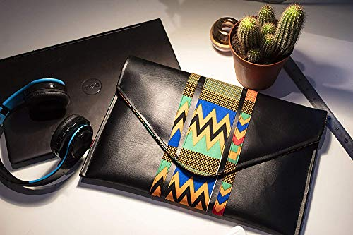 Laptop Sleeve/ Case_ Device Case (MacBook, Laptops, Tablets) with Ankara/African print Fabric Detail
