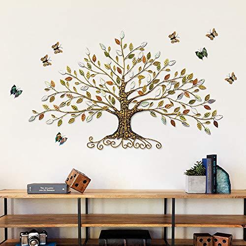 Metall Wandobjekt Baum, ideale Wanddeko für das Wohnzimmer, 77 * 45cm