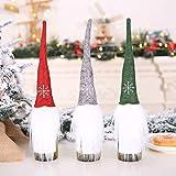 Amhomely - Decoración navideña para botella de champán, decoración de Navidad, 3 piezas, adornos colgantes para mujeres, hombres y niños