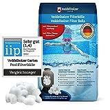 Bolas de filtro de piscina de Veddelholzer El material más ligero para el mejor rendimiento sustituye la arena de filtro de 25 kg arena de cuarzo de Alemania Limpiador de piscinas Sistema de filtro