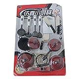 SENZHILINLIGHT 13 unids/set vajilla roja simulación utensilios de cocina olla cuchara de cocina espátula cuchillo fingir jugar juguetes para niños
