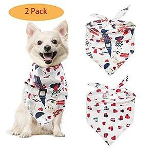 Petneces pour Animal Domestique Chien Bandana Bavoirs Triangle Écharpe Lot 3pièces pour Chat Chiot Big Dog Souple