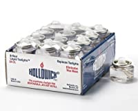 Tealight Fuel Cells - 8 Hour - Disposable Liquid Paraffin - 24 Pack by Hollowick by Hollowick