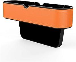 XuCesfs Auto Opslag Organisator Houder Side Autostoel Gap Opbergdoos Lederen Autostoel Gap Catcher (Kleur: Bruin)
