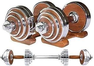 Kotee Justerbar Dumbbell & Barbell Set Hem Fitnessplattor 30kg Hantlar Vikter Muskel Kroppsutbildning Gymutrustning Arm Mu...