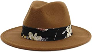 HongJie Hou Fedoras For Women And Men Vintage Wide Brim Fedora Hat Floppy Cloche Men Gangster Hat