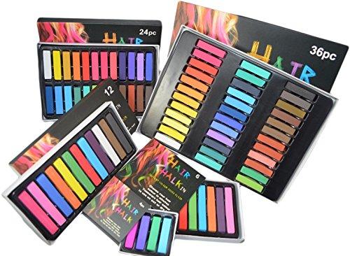 Haarkreide temporäre Haarfarbe für Fasching, Partys, Festivals Halloween Weihnachts Kinder Geschenk Set ungiftige waschbare:36 Farben