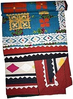Gypsia Studio Indian Handmade, Coverlet, Queen Applique Cotton Bed Sheet/Throw/Cover 849