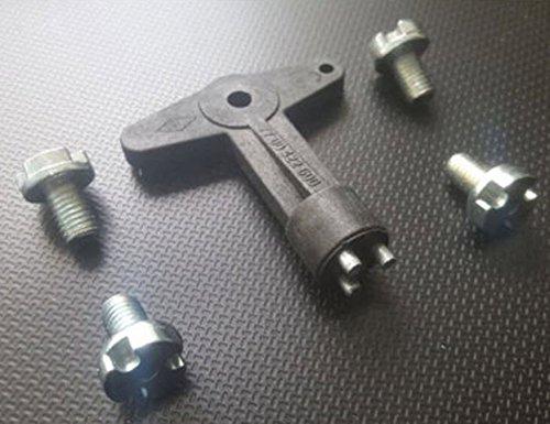 Für Opel Vauxhall Schlüssel Felgenschloss Felgenschlüssel Felgendeckel Radkappe + 4x Sicherungsschrauben