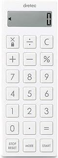 dretec(ドリテック) 時計付電卓タイマー 計算機 マグネット 最大セット時間99時間99分100秒 CL-130WTDI ホワイト