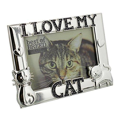 Widdop Best of Breed, versilberte Bilderrahmen I Love My Cat 15,2x 10,2cm