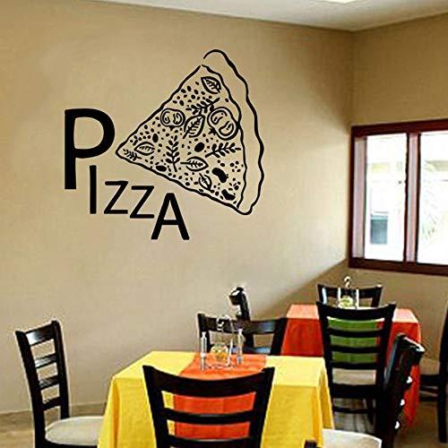 HGFDHG Pizza Stickers murali Porte e finestre Adesivi in Vinile Cibo Italiano Pizza Cibo Italiano Ristorante Occidentale Cucina Decorazione d'interni Murale