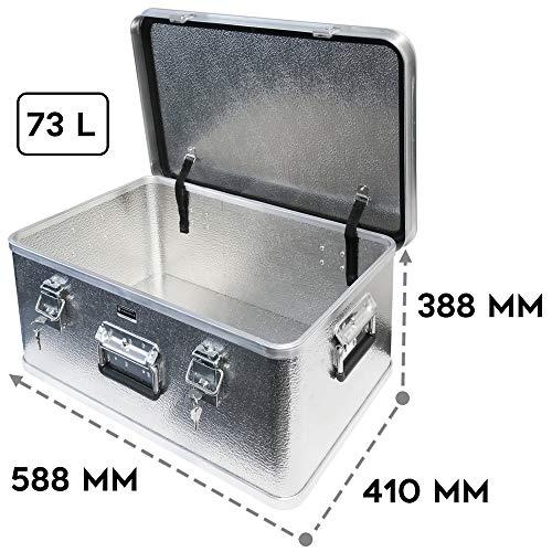 Alubox mit Deckel abschließbar - Alukiste Hemmdal PRO - Alu Box (42 L) groß - Profi Transportkiste - Transportbox Made in Germany - 2
