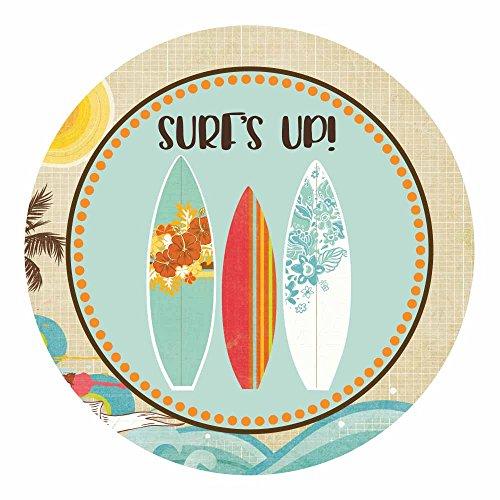 Adorebynat Party Decorations - EU Locos por el surf Surfer Sticker Decal - Surf Party pegatinas para la decoración del partido playa de verano - Set 30