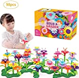 Toys for 3 Year Old Girls Building Blocks Baby Flower Garden Building Toy Floral Arrangement Playset 98 PCS