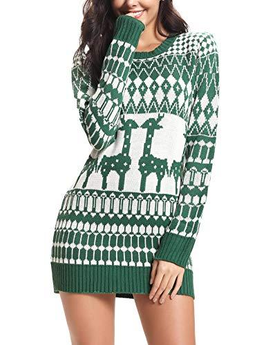 iClosam Vestidos Mujer Navidad Elegant Papá Noel SuéTer Jersey Pullover De Punto para Mujers
