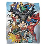 Khdkp Justice-League Bat-Man & Super-Man Poester Plush Throw Blanket Lightweight Cozy Couch Blankets Fuzzy Faux Fur Sherpa Throw for Couch Sofa Bed 50x70inch(130x180cm)