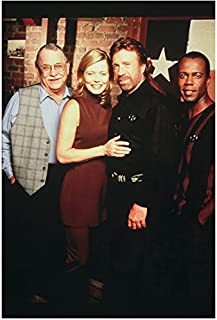 Walker, Texas Ranger Cast with Chuck Norris Clarence Gilyard Jr. Sheree J. Wilson and Noble Willingham 8 x 10 Photo